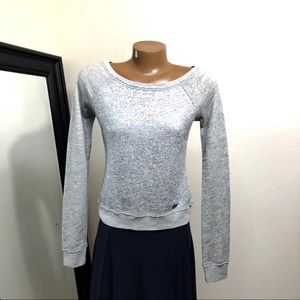 Abercrombie & Fitch Sequin LS Sweatshirt XS